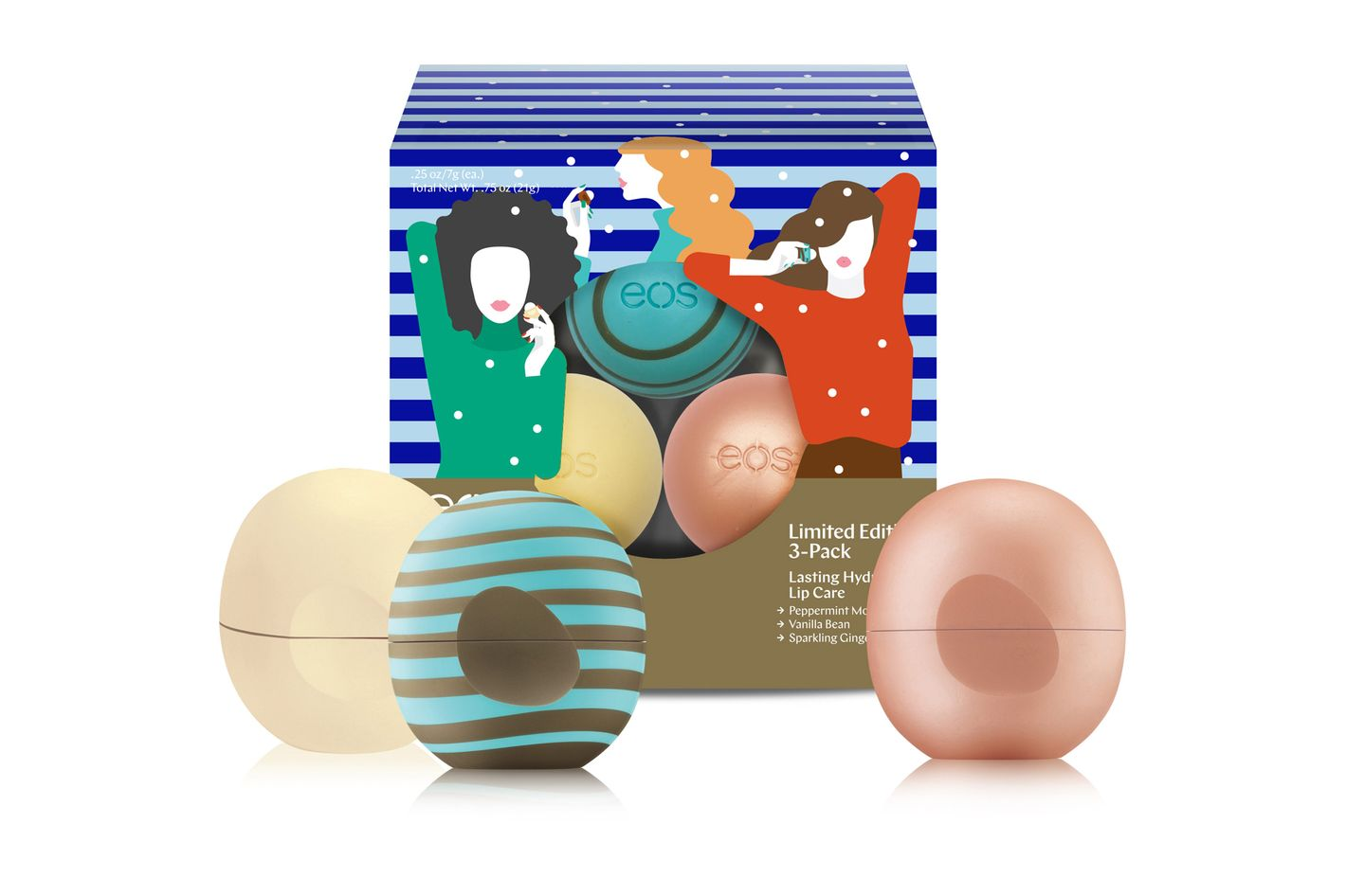 EOS Holiday Lip Balm 2017 3-Pack