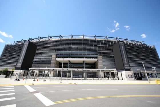 EAST RUTHERFORD, NJ - AUGUST 23:  A view of the exterior of the New Meadowlands Stadium on August 23, 2011 in East Rutherford, New Jersey. Life Insurance company MetLife have agreed a 25 year stadium rights agreement with the New York Jets and the New York Giants National Football League teams for an undisclosed fee.  (Photo by John W. Ferguson/Getty Images)