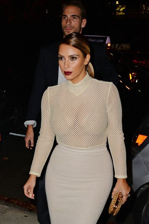 Kim Kardashian sighting on November 18, 2013 in New York City.