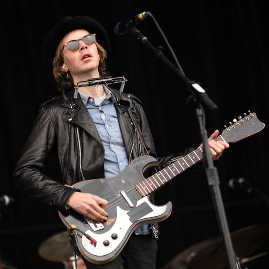 Musician Beck performs onstage during Day 1 of 2012 Outside Lands Music Festival held at Golden Gate Park on August 10, 2012 in San Francisco, California.