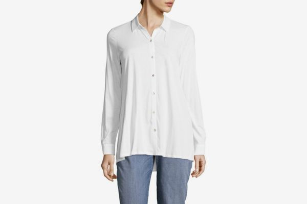 Eileen Fisher Classic Cotton Button-Down Shirt