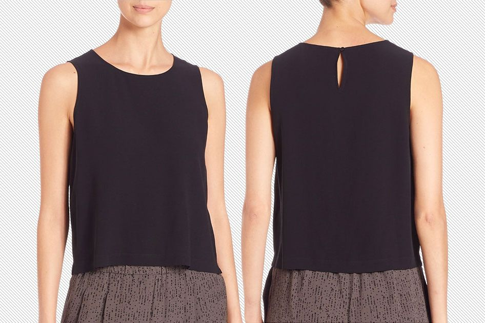 ff8aeda615f This Black Shirt From Eileen Fisher Goes With Everything