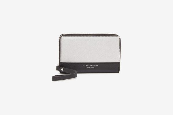 Marc Jacobs Metallic Colorblock Zip Phone Wristlet