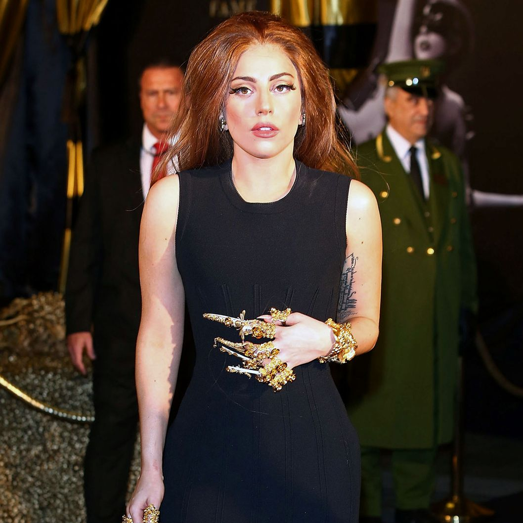 Lady Gaga attends the launch of her new fragrance Fame by Lady Gaga at Harrods on October 7, 2012 in London, England.
