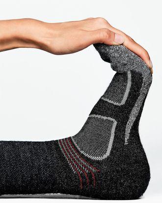 Merino wool helps repel perspiration and lock in heat.