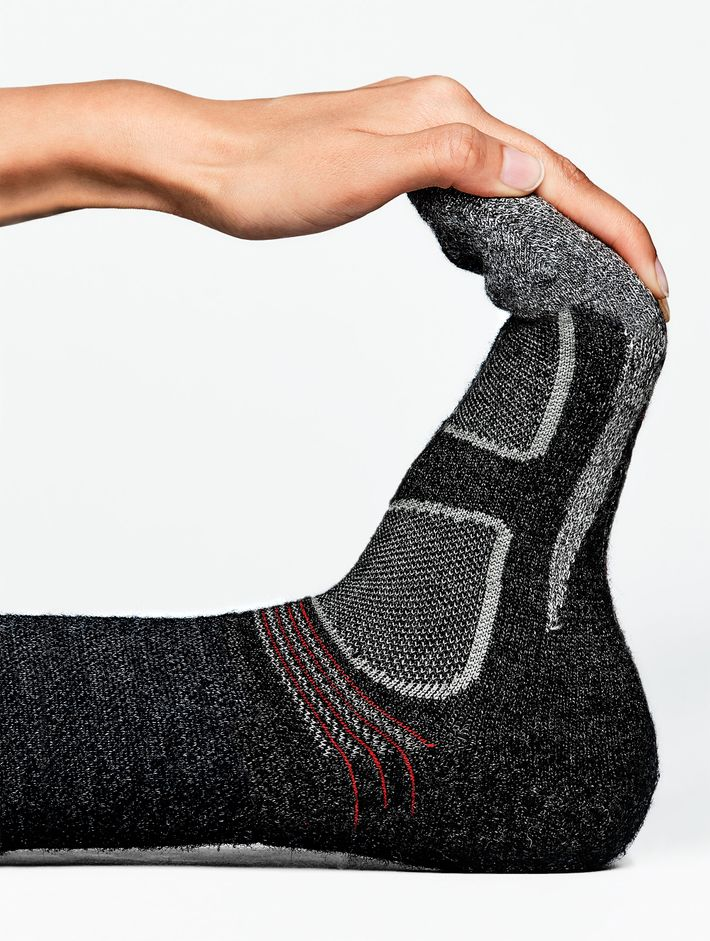 Merino wool helps repel perspiration and lock in heat.