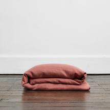 Bed Threads 100% Flax Linen Duvet Cover - Pink Clay (Queen)