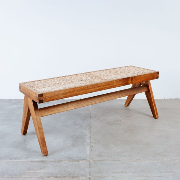 France&Son Mid Century Jeanneret Hand Woven Bench - Narrow