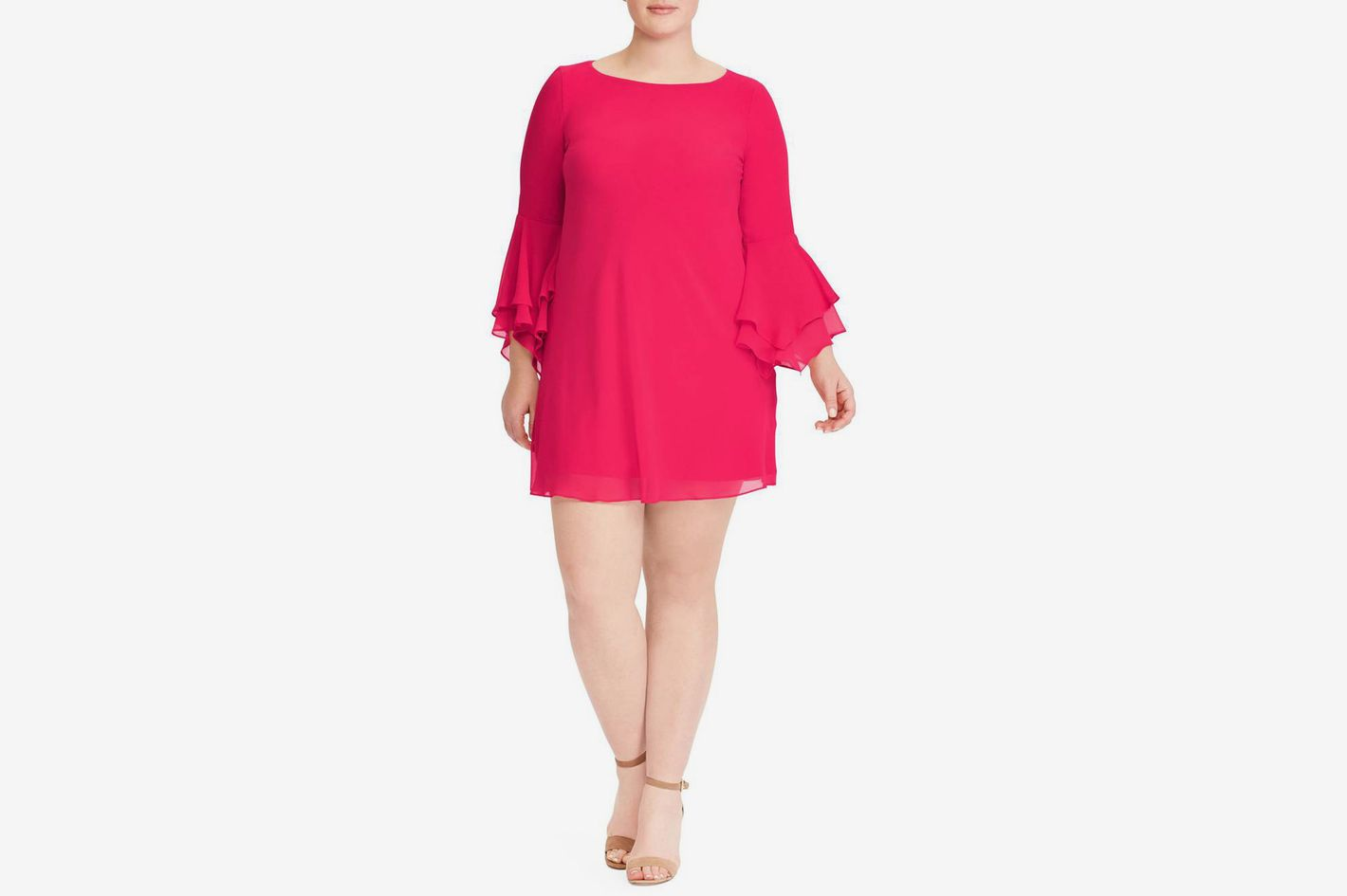 LAUREN RALPH LAUREN  Bell Sleeve A-Line Dress