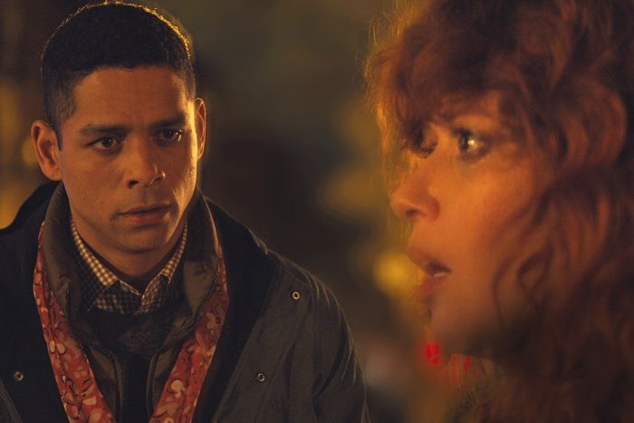 Charlie Barnett and Natasha Lyonne in Russian Doll.