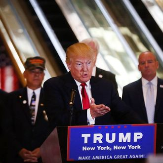 Donald Trump Holds Press Conference At Trump Tower