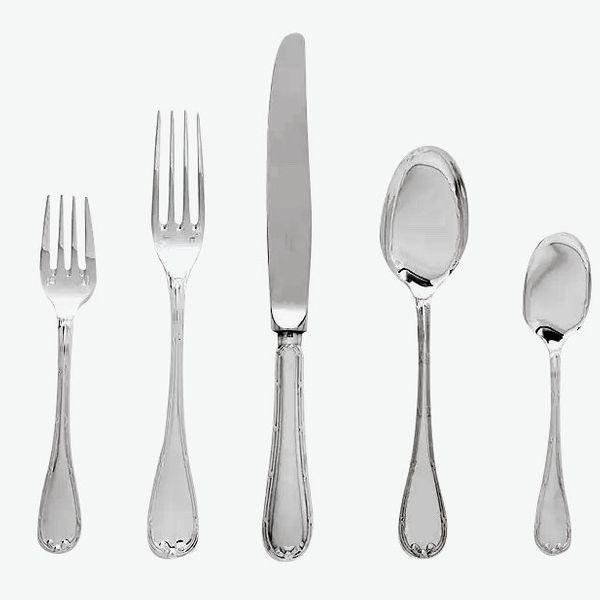 Christofle Rubans Silver-Plate Flatware Five-Piece Set