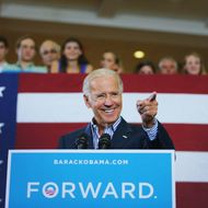 BOCA RATON, FL - SEPTEMBER 28:  U.S. Vice President Joe Biden speaks during a campaign event at the Century Village Clubhouse on September 28, 2012 in Boca Raton, Florida. Biden continues to campaign across the country before the general election. (Photo by Joe Raedle/Getty Images)