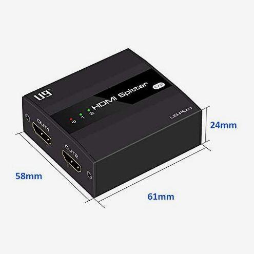 ViewHD Ultra HD 1x2 Mini Powered Splitter
