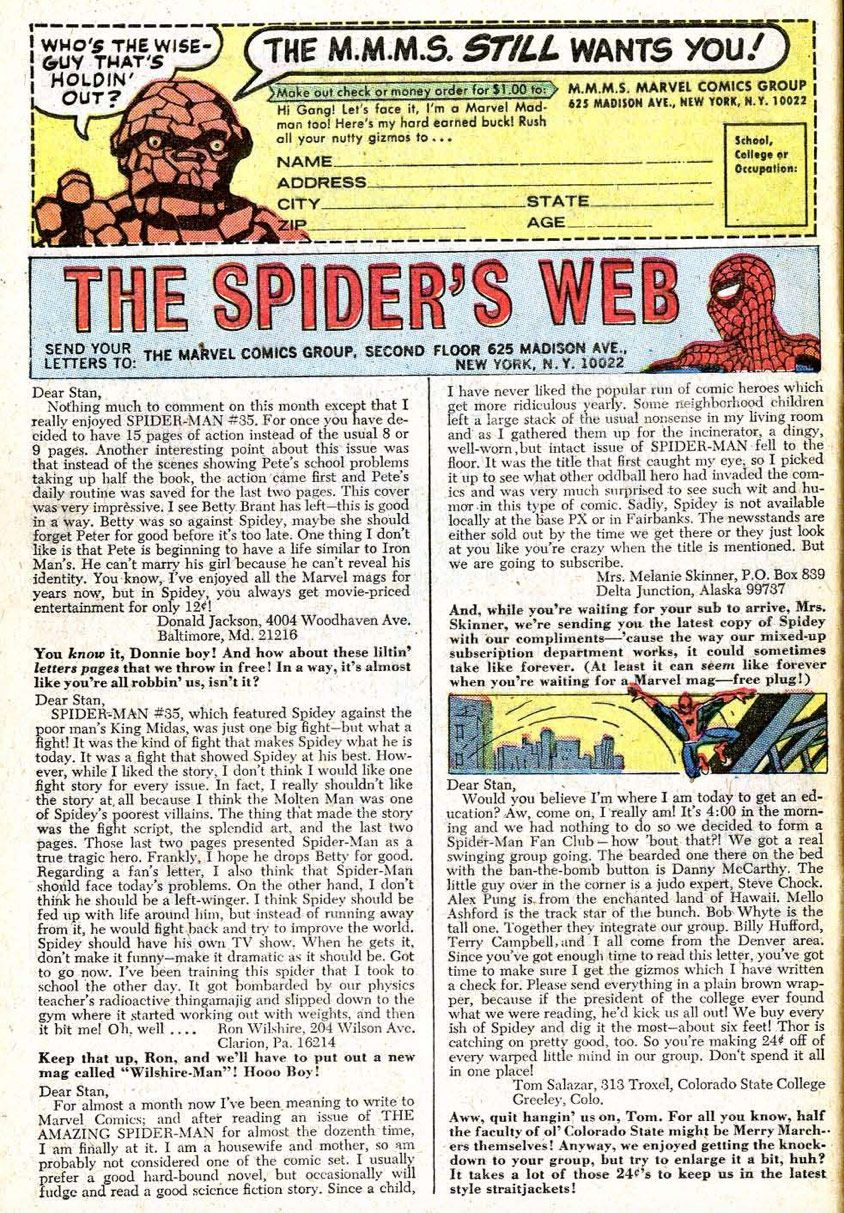 c5f0c7457603b The letters page from  The Amazing Spider-Man  No. 39. Lee wrote these