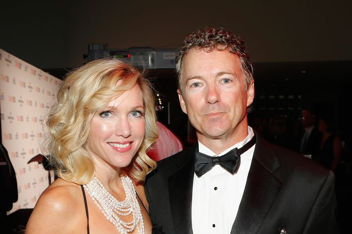 Kelley Ashby and Rand Paul attend the TIME 100 Gala, TIME'S 100 Most Influential People In The World reception at Jazz at Lincoln Center on April 23, 2013 in New York City.
