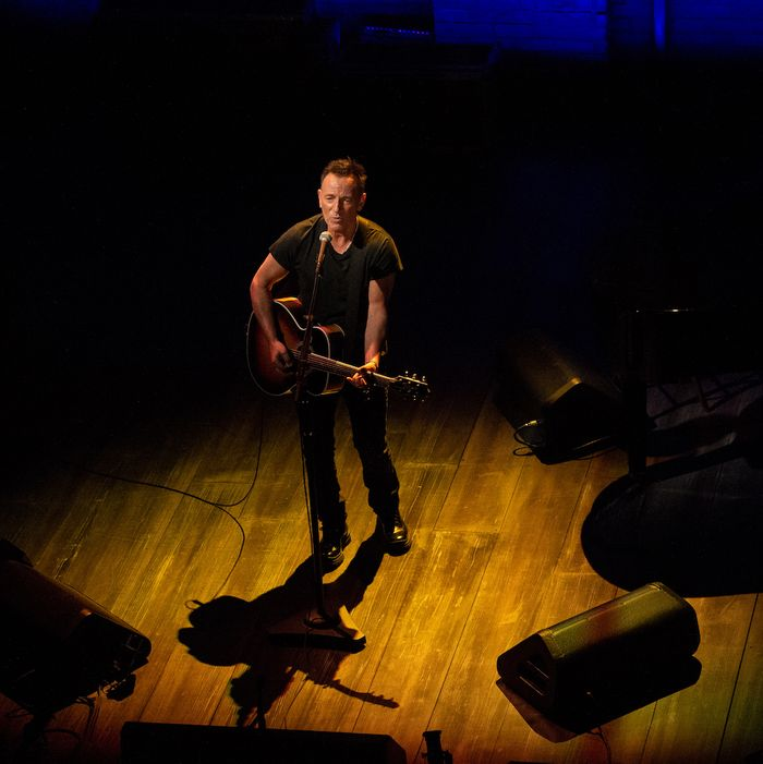 Bruce Springsteen performs in Springsteen on Broadway.