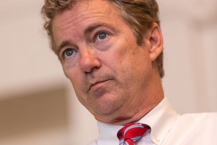 CHARLESTON, SC - SEPTEMBER 30:  U.S. Senator Rand Paul (R-KY) speaks to students at the College of Charleston during a town hall meeting on September 30, 2014 in Charleston, South Carolina. Paul has been speaking at a series of GOP events in the state, including the Universtity of South Carolina in Columbia. (Photo by Richard Ellis/Getty Images)