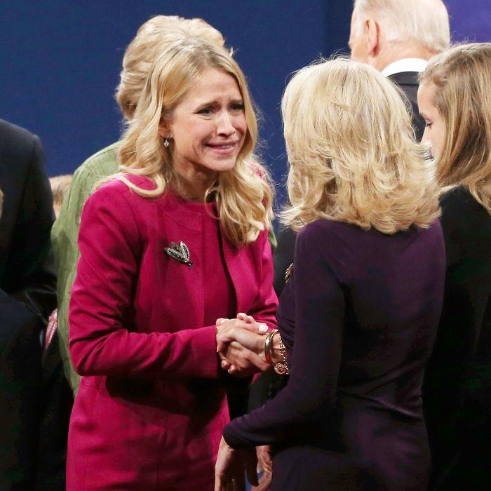 Janna Ryan and Jill Biden.