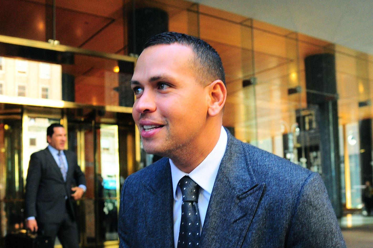 American baseball star Alex Rodriguez is seen outside MLB Offices on October 2, 2013 in New York City.