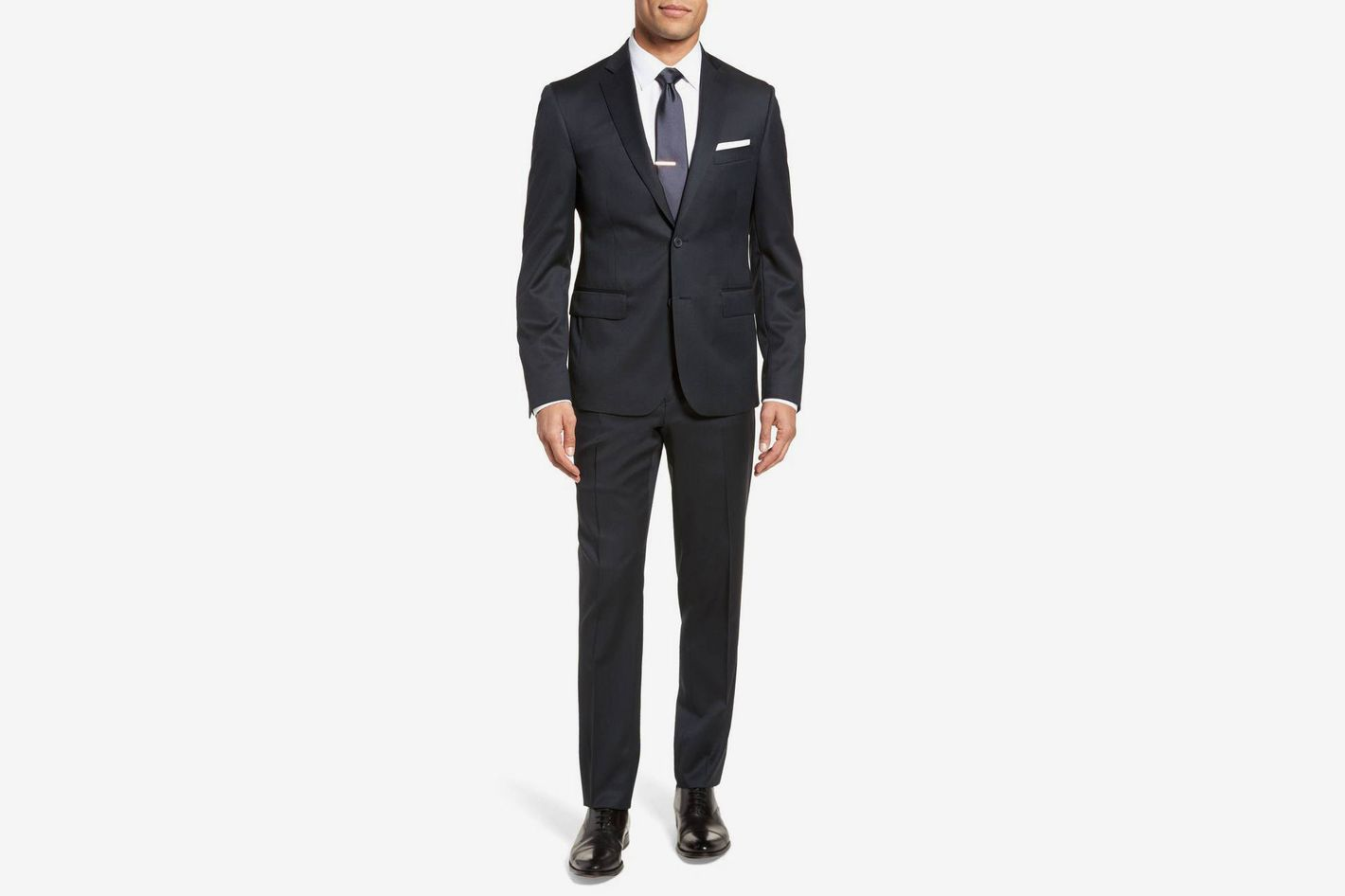 Extra Trim Fit Solid Wool Suit