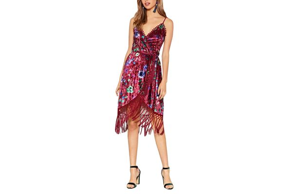 Feelin Myself Velvet Wrap Dress