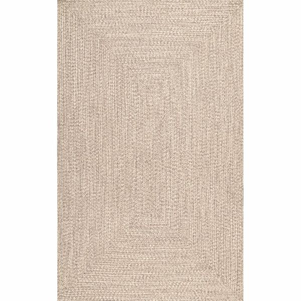Bromsgrove Handmade Braided Tan Indoor/Outdoor Rug (7'6