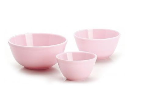 Mosser Glass 3-Piece Glass Mixing Bowl Set Color