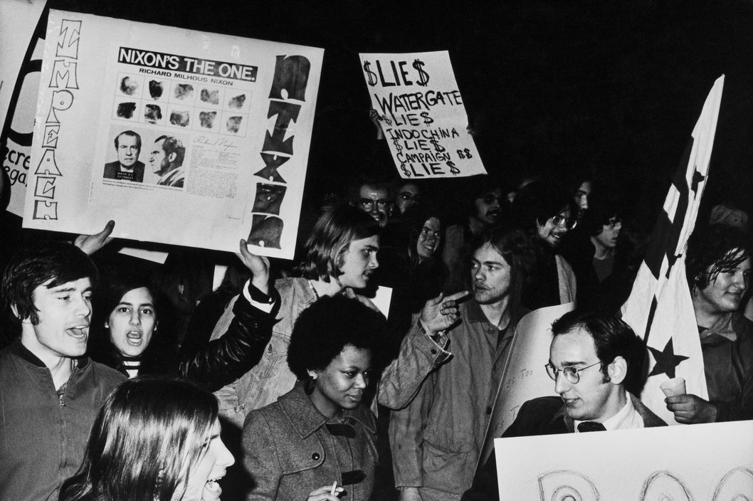 UNITED STATES - JANUARY 30:  Demonstration Against Nixon At Washington In Usa On January 30Th 1974  (Photo by Keystone-France/Gamma-Keystone via Getty Images)