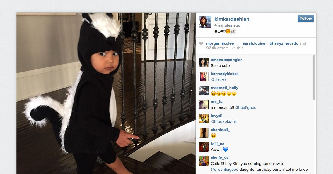 North West Is an Adorable Skunk for Halloween -- Vulture