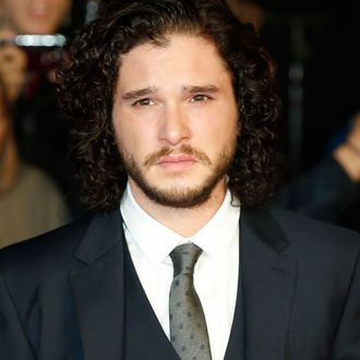 LONDON, ENGLAND - OCTOBER 14: Kit Harington attends the World Premiere Centrepiece Gala, supported by the Mayor of London, red carpet arrivals for