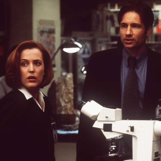 383551 03: Gillian Anderson and David Duchovny in