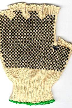 Hemp Fingerless Garden Gloves with Gripper Dots