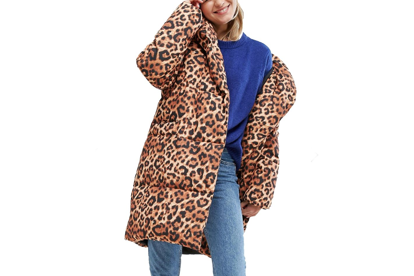Monki Leopard Padded Coat