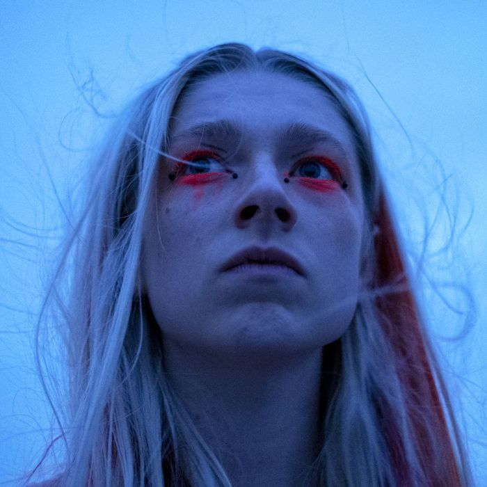 Hunter Schafer as Jules in Euphoria.