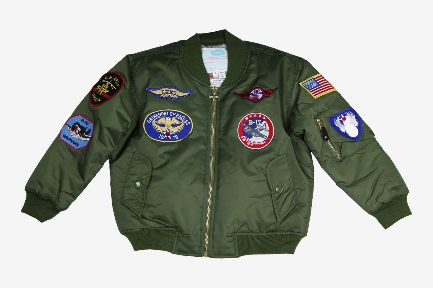 Youth MA-1 Flight Jacket with Patches