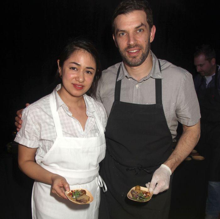 Chefs Ann Redding and Matt Danzer.