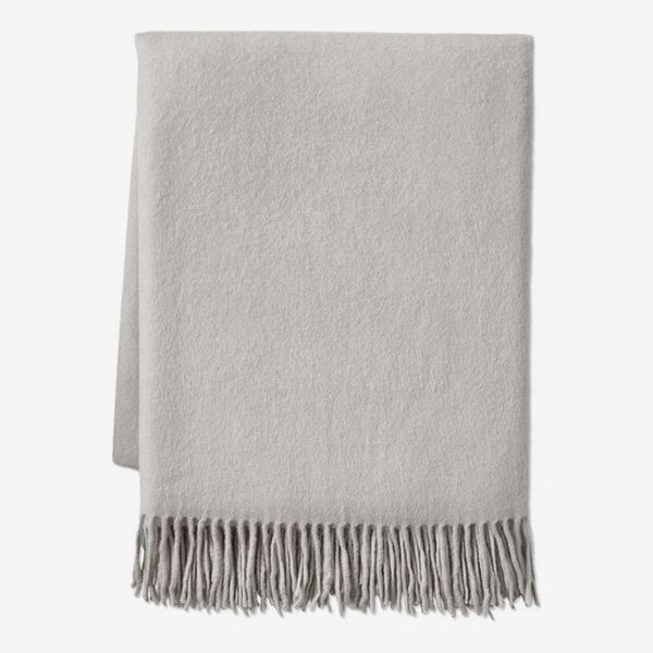 Williams Sonoma Solid Cashmere Throw, Alpine Grey