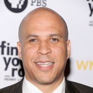 "Mayor Cory Booker attends the ""Finding Your Roots"" New York premiere at Frederick P. Rose Hall, Jazz at Lincoln Center on March 19, 2012 in New York City."