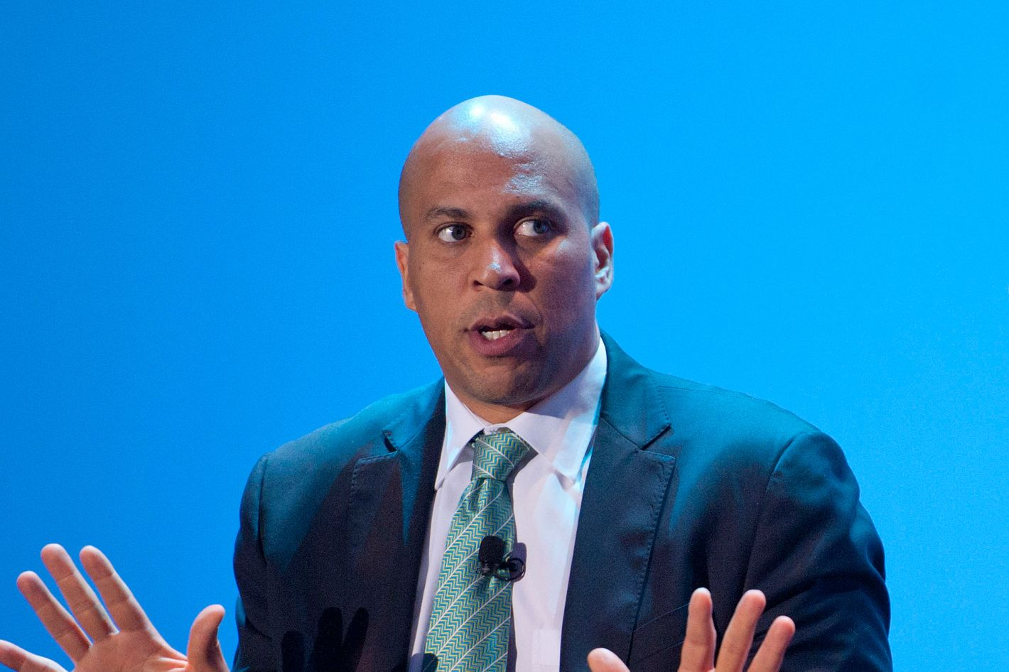Cory Booker at a USA Today event at the National Portrait Gallery on September 13, 2012 in Washington, DC.