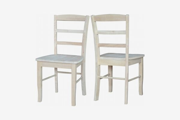 International Concepts Madrid Chairs, Unfinished, (Set of 2)