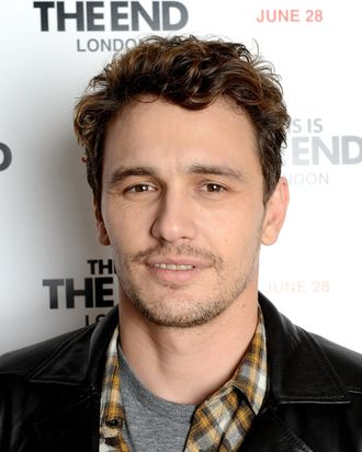 Actor James Franco attends the