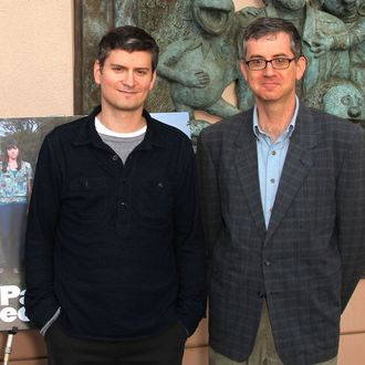 Michael Schur (L), creator/executive producer and Greg Daniels creator/executive producer attend the Emmy Screening for NBC's