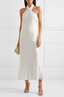 Galvan Pandora Halter-Neck Midi Dress