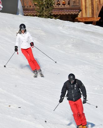 NO WEB OR BLOG WITHOUT AGREEMENT WWW.BAUER-GRIFFIN.COM Prince William and Kate (Catherine) Middleton spend time together in the Alps slopes honing their winter sports skills. William and Catherine had been apart for two months during Prince William's recent deployment in the Falkland Islands. The party included Kate's brother and sister, Pippa and James, and their parents Carole and Michael. Pippa who just finished a 56 mile cross-country ski race in Sweden also brought ex-boyfriend and room-mate George Percy. The whole group who stayed in a huge chalet left early each morning to get to the tops of local mountains because of the lack of snow at lower elevations. Their location also allowed them to ski in many different valleys. Rep 95013EF France, March 27/28th 2012 EXCLUSIVE wwwbauergriffinonline.com