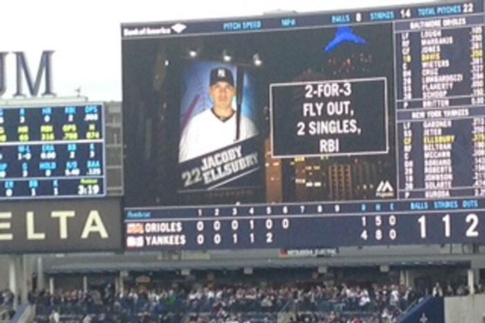 The Yankees Kick Off Their Home Schedule With a Scoreboard ...  Yankees