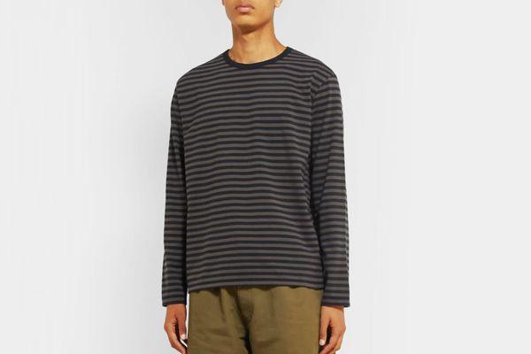 nanamica Striped Coolmax Cotton-Blend Jersey T-Shirt
