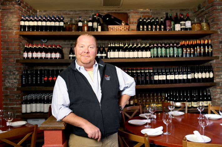 Batali, striking a pose at Otto.