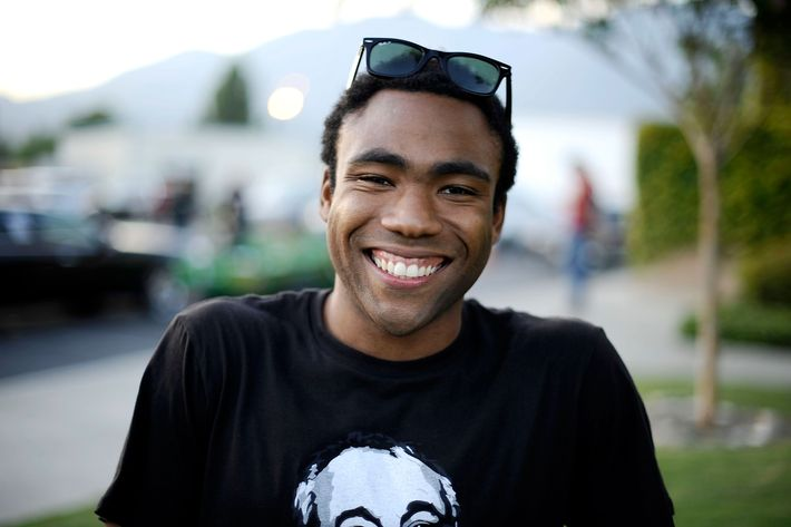 LOS ANGELES, CA - AUGUST 20:  Rapper Childish Gambino hanging out backstage at the 8th annual Rock The Bells festival sponsored by Reebok at San Manuel Amphitheater on August 20, 2011 in Los Angeles, California.  (Photo by Jerod Harris/WireImage)