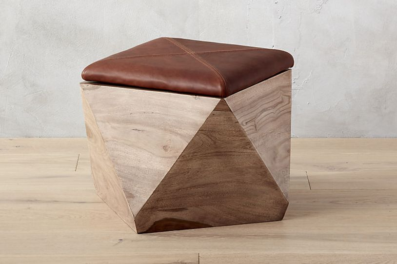 CB2 Hexagon Storage Ottoman